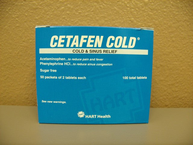 Cetafen Cold & Sinus (Non Aspirin) 50 packets