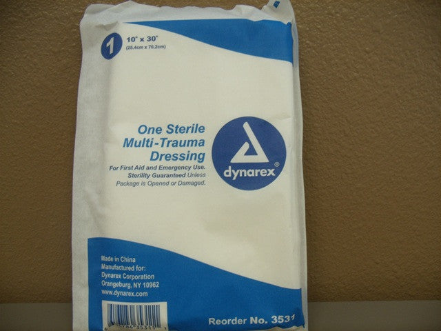 "Multi-Trauma Dressing 10"" by 30"" 1 Ct."