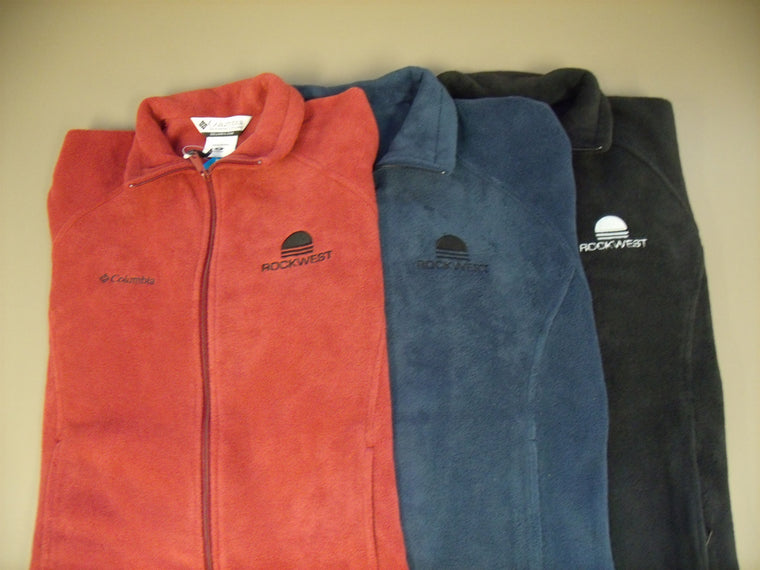 Embroidered Fleece Jacket, Mens & Womens - CLEARANCE