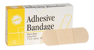 "Adhesive Bandage 1"" by 3"" 16 Count"