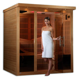 Golden Designs 6-person Near Zero EMF Far Infrared Sauna, Monaco Edition GDI-6996-01