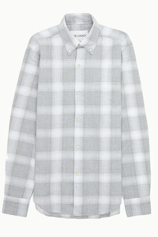 Grey Check Button Down
