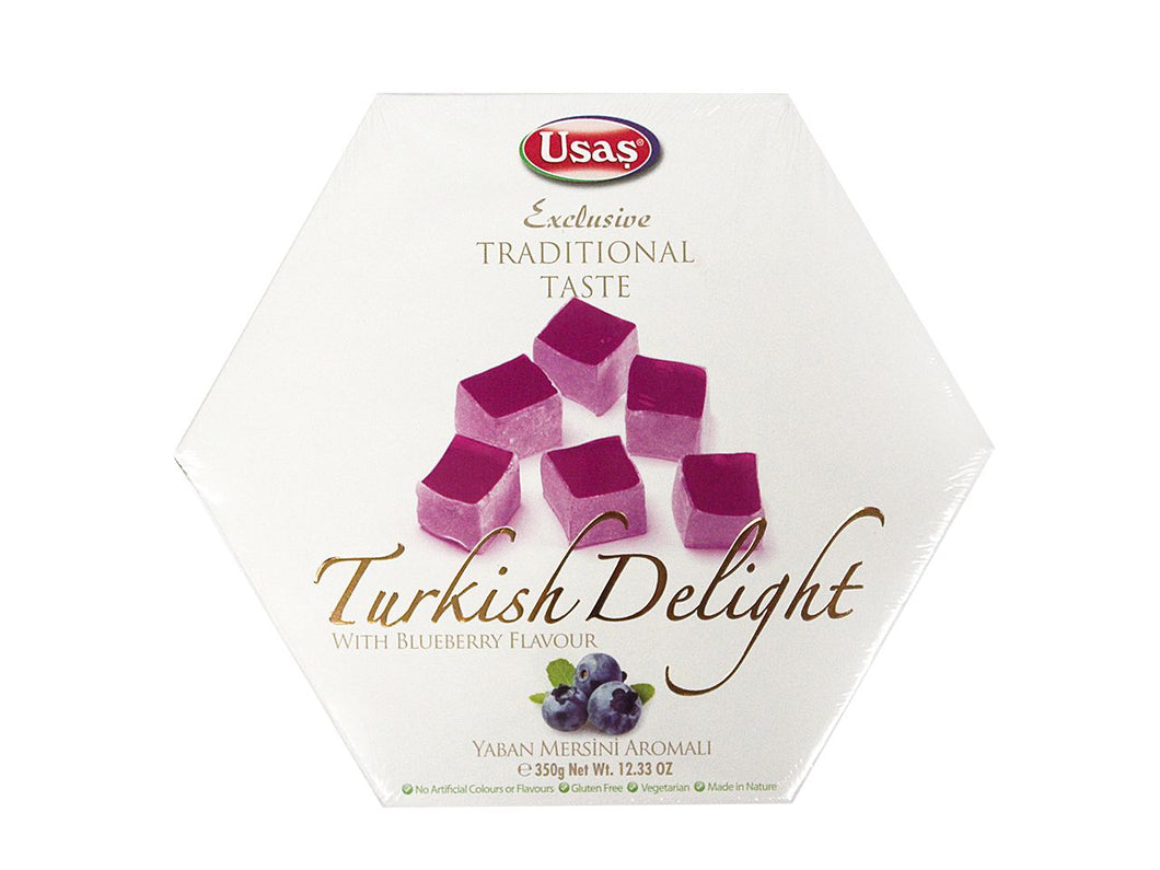 Usas Traditional Turkish Delight - Blueberry Flavor