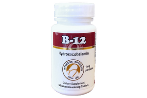 Vitamin B12 Hydroxocobalamin with beta-cyclodextrin, Slow Dissolving Tablets, 1mg