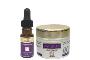 Skin WOW Package: DMAE Lip Enhancer and DMAE 3% Gel