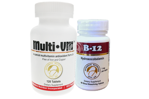 Daily Well Being Package: MultiVM Foundational Multivitamin & B12 hydroxocobalamin