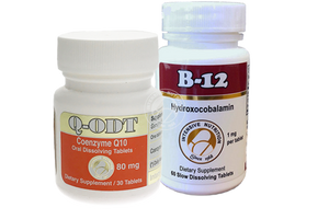 Heart Support Package: Q-ODT 80 mg, B12 hydroxocobalamin 1mg
