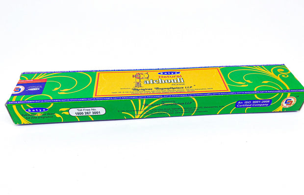 Incenso Satya Natural Patchouli Nag Champa Bluegaya