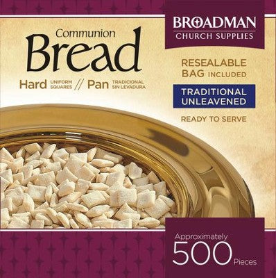 Communion Bread - Hard Squares - 500 count