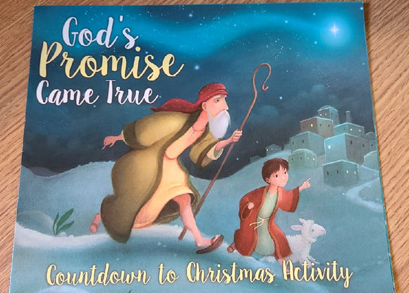 God's Promise Came True - Countdown to Christmas Activity Leaflet