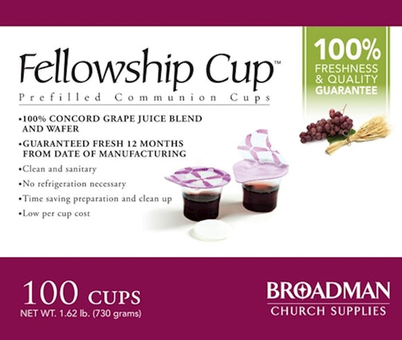 Fellowship Cup - Prefilled cups with soft wafers - 100 count