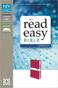 NIV, ReadEasy Bible, Compact, Imitation Leather, Pink, Red Letter Edition