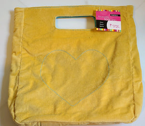Small Reversible Fabric Tote Bag - Yellow