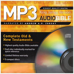 KJV COMPLETE BIBLE ON AUDIO MP3 CDs Audio CD