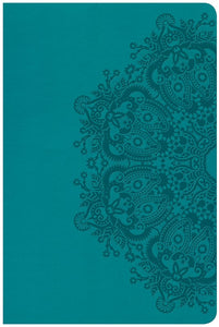 CSB Large Print Personal Size Reference Bible-Teal LeatherTouch