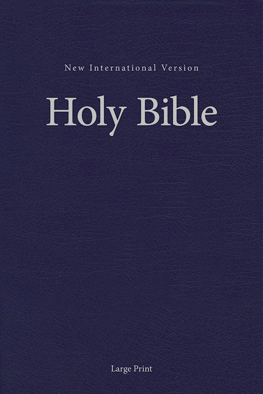 NIV Pew And Worship Bible/Large Print-Blue Hardcover