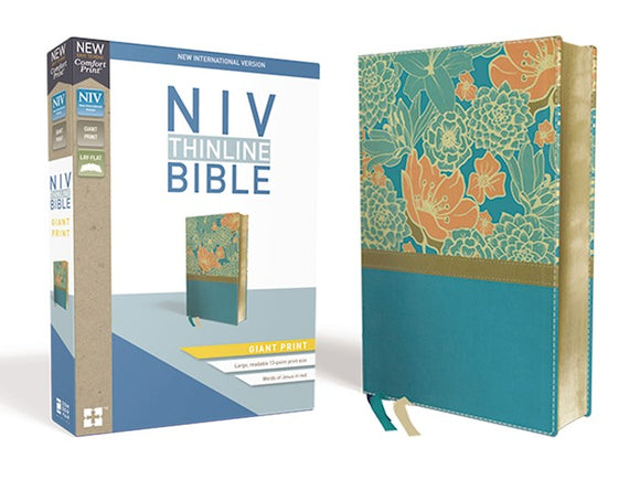 NIV Thinline Bible/Giant Print (Comfort Print)-Turquoise Leathersoft