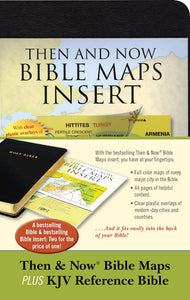 KJV Thinline Reference Bible w/Then & Now Bible Maps Insert-Black Imitation Leather