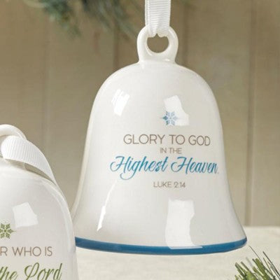 Glory to God - porcelain bell ornament
