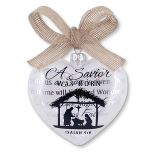 A Savior was born ornament