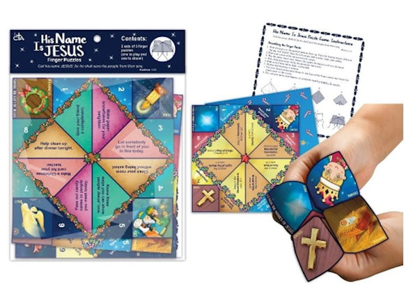 His Name is Jesus Finger Puzzle Game