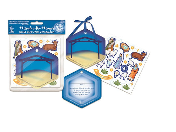 Craft Kit-Miracle In The Manger Build-Your-Own Ornament