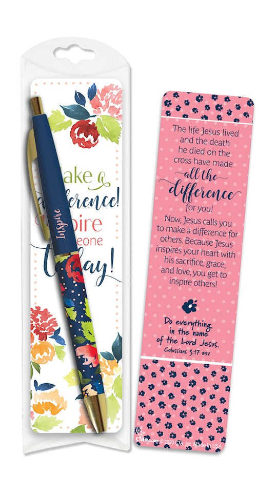 Making A Difference Pen & Bookmark Set