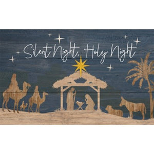 Silent Night - wall hanging