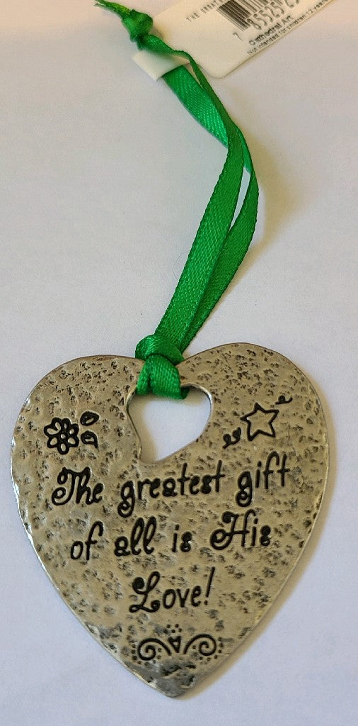 Ornament - The greatest gift of all is His Love!