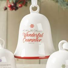 He will be called Wonderful Counselor - porcelain bell ornament