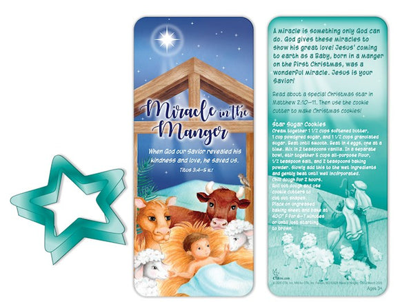 Miracle in the Manger Cookie cutter/Bookmark Set