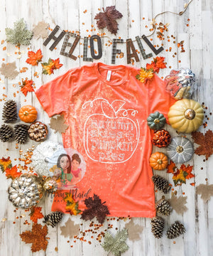 Autumn Skies and Pumpkin Pies (Coral Distressed)