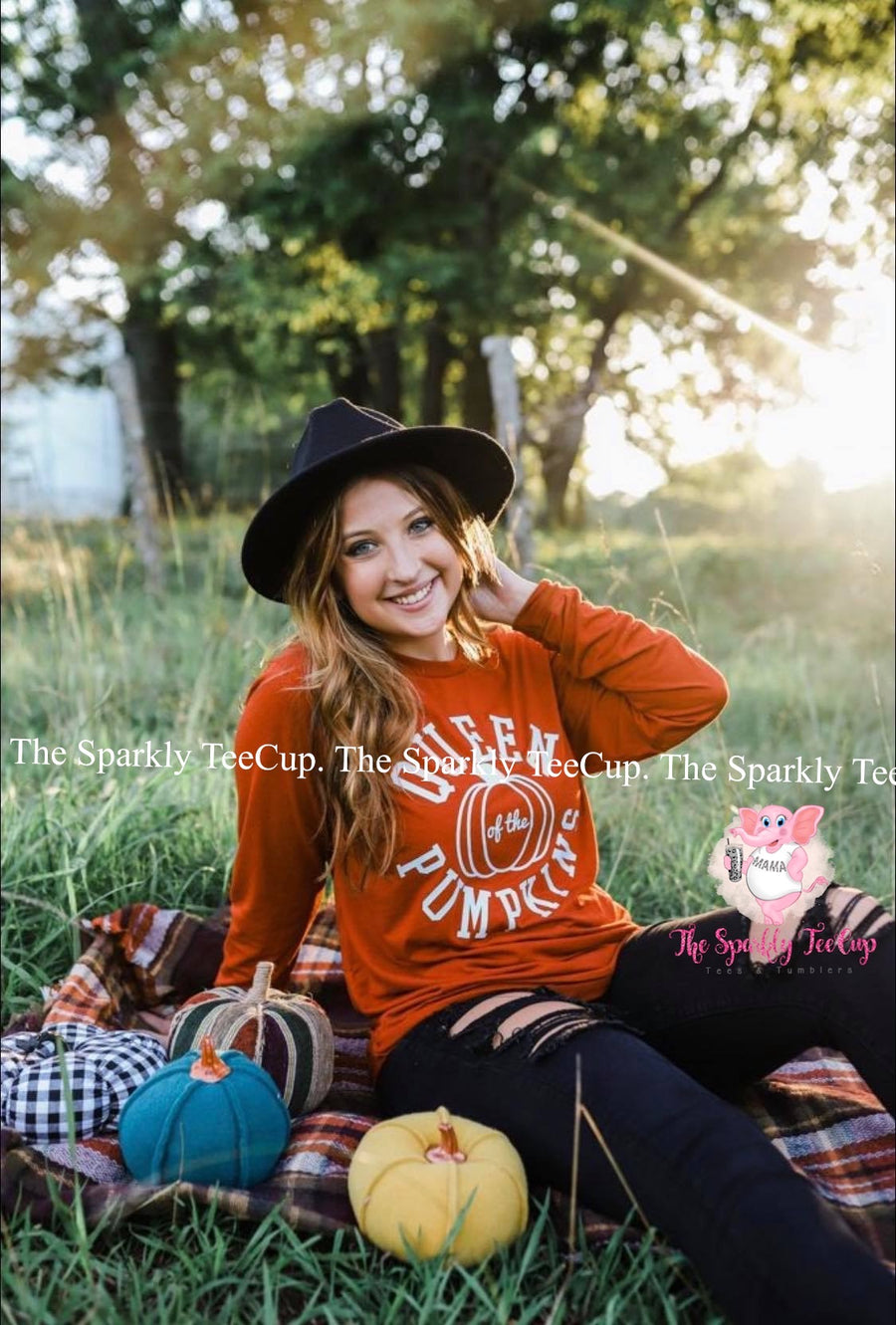Queen of the Pumpkins- Long sleeve tee