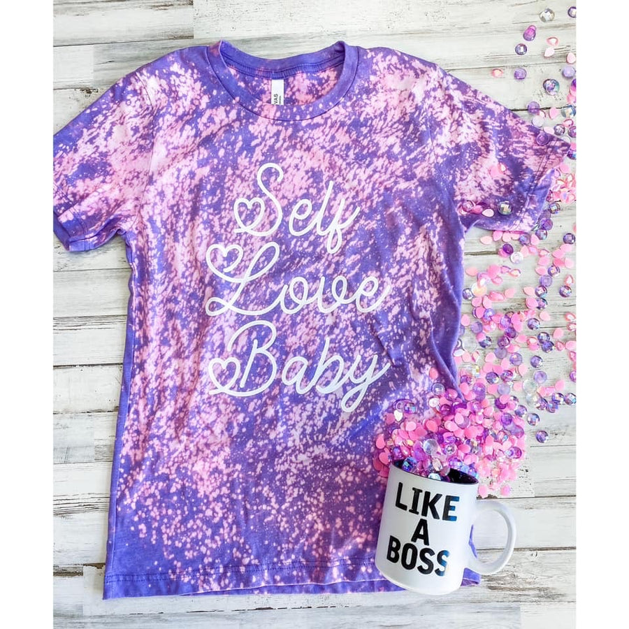 Self Love Baby Tee- Distressed