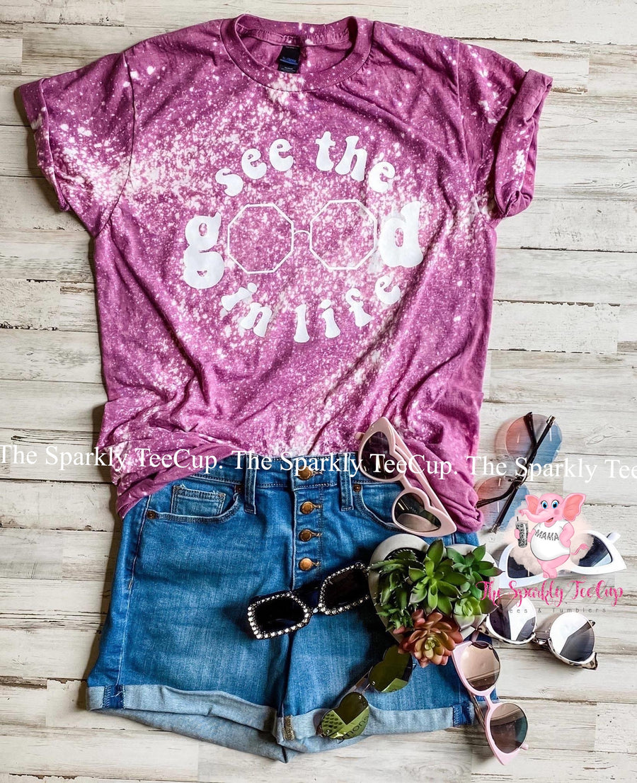 See The Good In Life- Distressed Tee