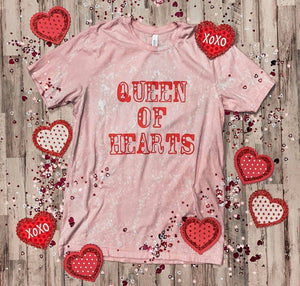 Queen of Hearts Tee- Distressed