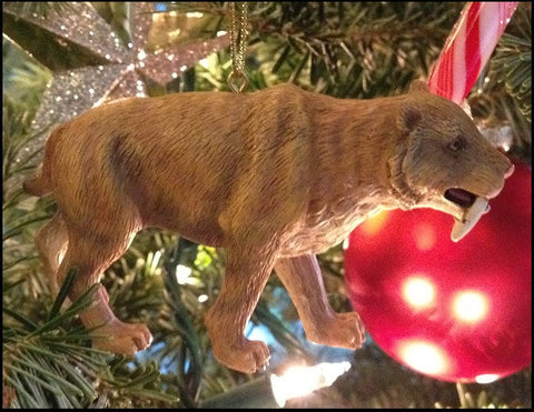 Smilodon Sabertooth Cat ornament