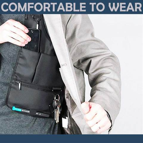 Material and comfort feature of Hidden Slinger - Concealed Underarm Bag