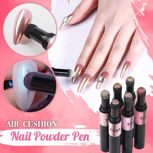 ChromeStick - Nail Art Mirror Effect Air Cushion Powder Pen