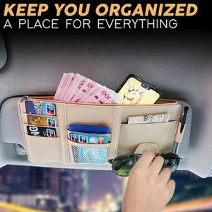 VisorPlus - All In One Car Sun Visor Organizer