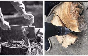Wood Breaker - Drill Bit Firewood Splitter