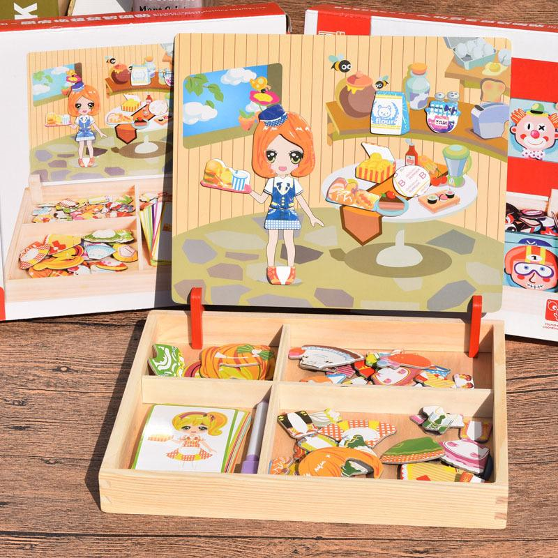 3D Matching Wooden Puzzle Box