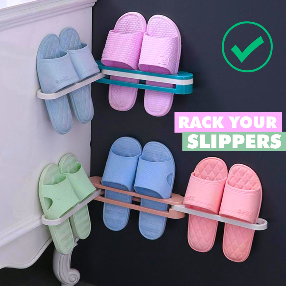 SlipSlippers - Self Adhesive Foldable Slipper Organizer Rack