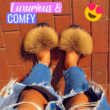 FabFlurry - Ladies Luxury Fluffy Slides