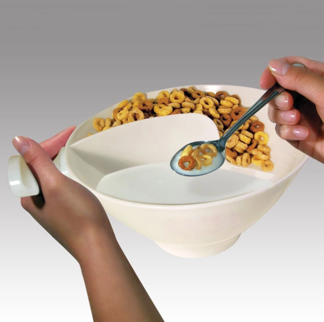Anti-Soggy Separated Cereal Bowl