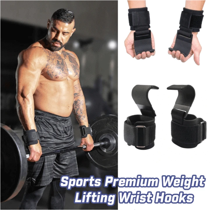 PowerLifer - Weight Lifting Wrist Hooks
