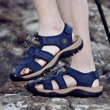 Outdoer Sandals - Breathable Closed Toe Leather Sandals