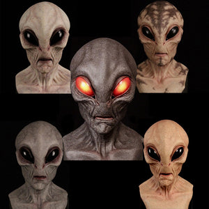 Halloween Realistic Latex Alien Mask