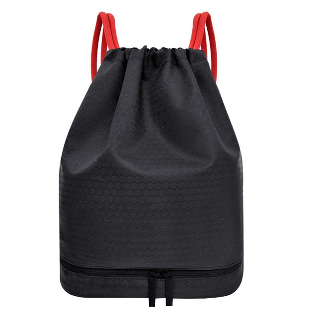 SportyBag - Wet and Dry Drawstring Sports Backpack