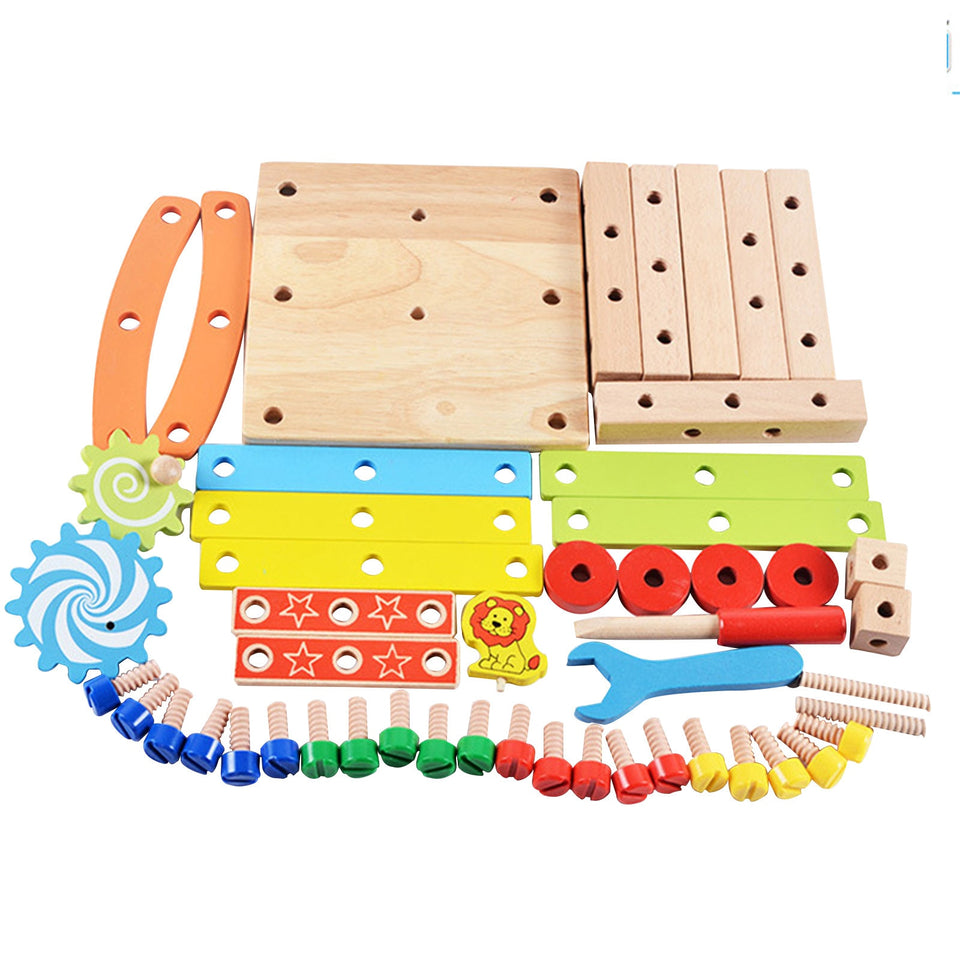 FunBlast - DIY Wooden Multifunctional Chair with Nut and Screw Toys